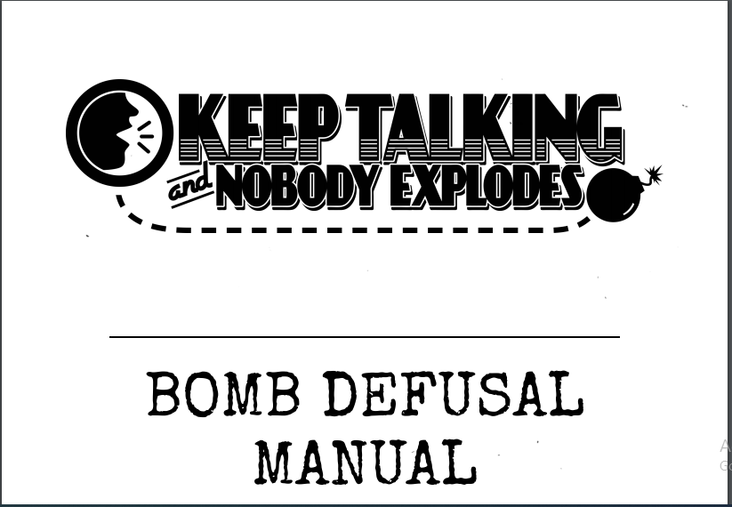 Keep Talking And Nobody Explodes PDF