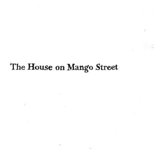house on mango street pdf