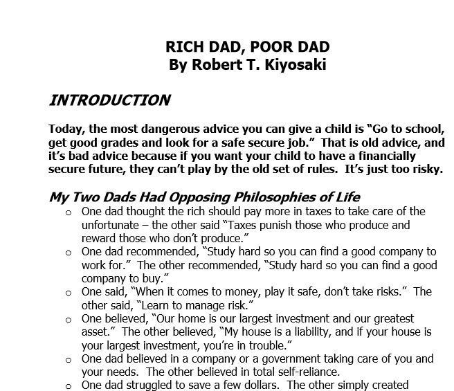 "Download ""Rich Dad Poor dad pdf"" (2020)"